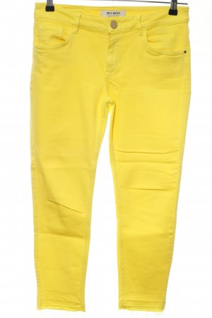 Mos Mosh 7/8-jeans geel casual uitstraling