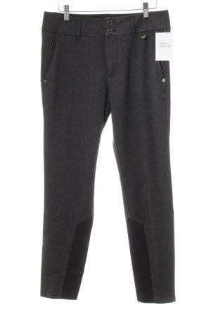 Mos Mosh Pantalón de vestir gris oscuro estampado de zigzag estilo «business»