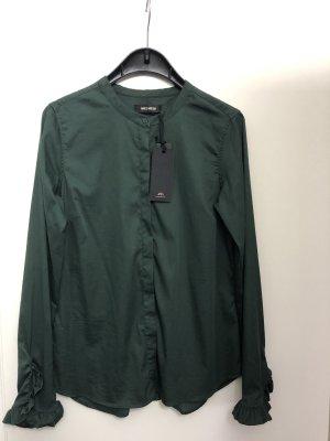 Mos Mosh Ruche blouse bos Groen-donkergroen