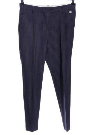 Mos Mosh Pantalone a pieghe blu-grigio chiaro motivo a righe stile professionale