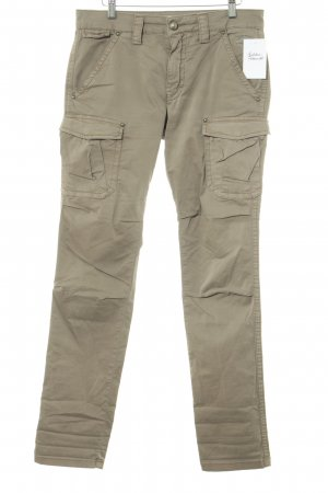 Mos Mosh Cargo Pants light brown embroidered logo