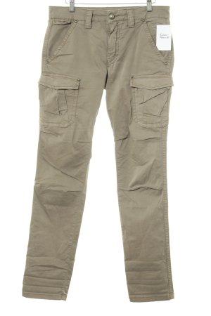 Mos Mosh Pantalón de camuflaje marrón claro Logotipo bordado