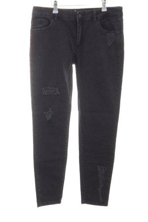 Mos Mosh Hoge taille jeans zwart Biker-look