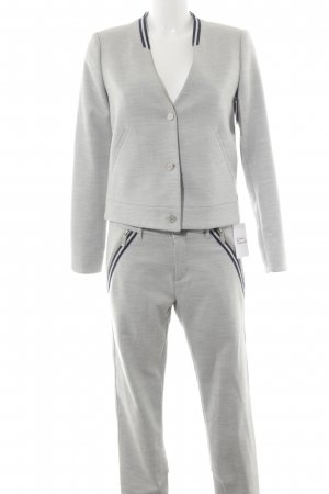 Mos Mosh Tailleur-pantalon gris clair style d'affaires