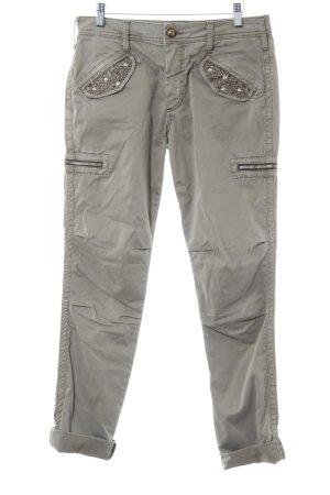 Mos Mosh Pantalons Houlihan gris vert style militaire