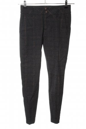Mos Mosh Peg Top Trousers brown check pattern casual look