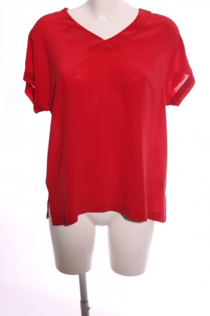 Mos Mosh Silk Blouse red business style