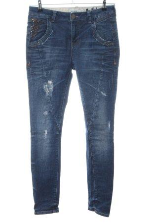 Mos Mosh Skinny Jeans blau Street-Fashion-Look