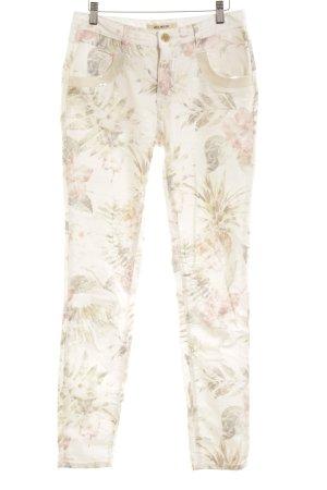 Mos Mosh Skinny Jeans Blumenmuster Casual-Look