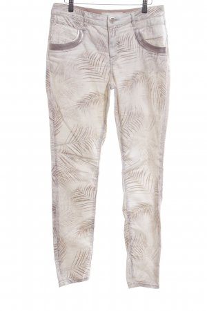 Mos Mosh Skinny Jeans creme Allover-Druck Casual-Look