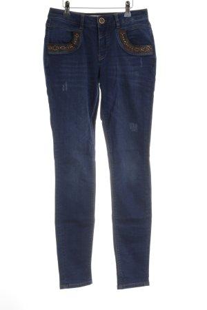 Mos Mosh Skinny Jeans stahlblau Casual-Look
