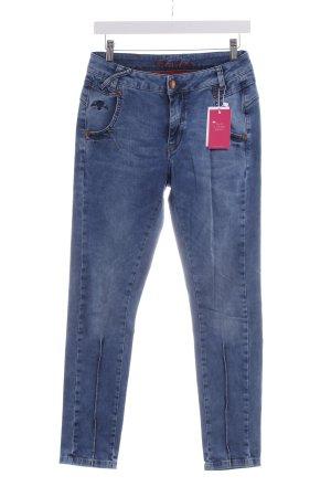 Mos Mosh Slim Jeans dunkelblau Boyfriend-Look