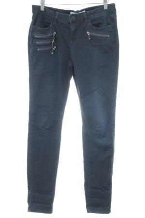Mos Mosh Slim Jeans dark blue street-fashion look