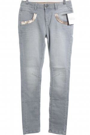 Mos Mosh Slim jeans grijs casual uitstraling