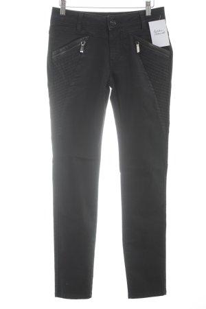 Mos Mosh Slim Jeans schwarz Biker-Look