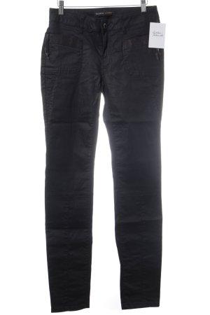Mos Mosh Slim Jeans schwarz Logo-Applikation aus Metall