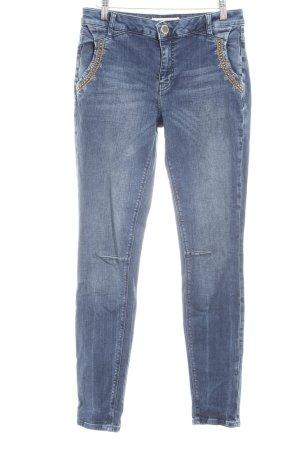 Mos Mosh Slim Jeans stahlblau Casual-Look