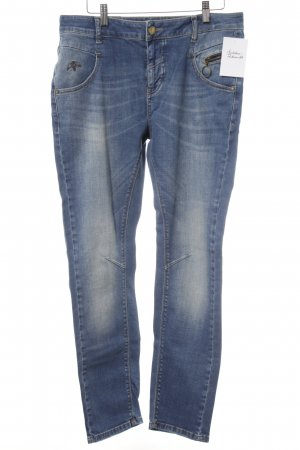 Mos Mosh Slim jeans staalblauw casual uitstraling