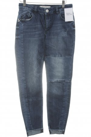 "Mos Mosh Slim Jeans ""Summer Patch Step Jeans"" dunkelblau"
