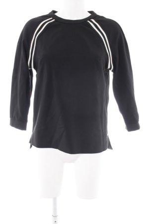 Mos Mosh Sportshirt schwarz-weiß Streifenmuster sportlicher Stil