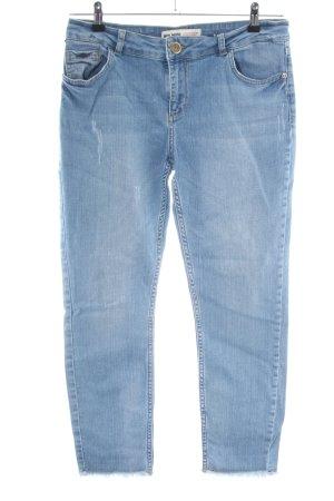 Mos Mosh Straight-Leg Jeans blau Casual-Look
