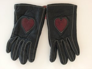 Moschino Leather Gloves black leather