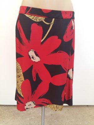 Moschino Silk Skirt black-brick red silk