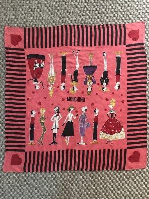 Moschino 90er Vintage Seidentuch Seidenschal Olivia pink