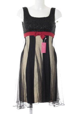 Moschino A-Linien Kleid Streifenmuster Materialmix-Look