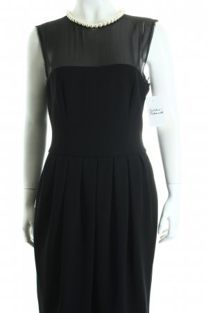 Moschino Abendkleid schwarz-hellbeige Elegant