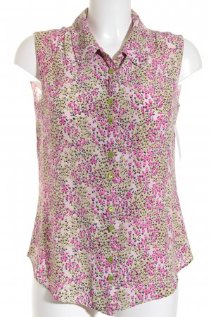 Moschino ärmellose Bluse rosa-grün florales Muster Casual-Look