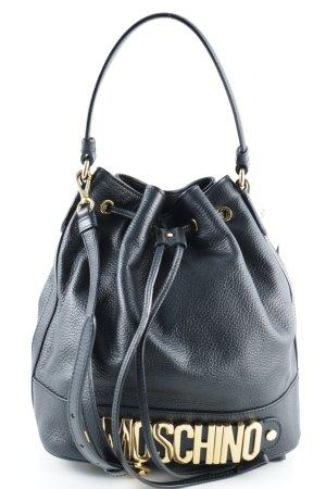 """Moschino Borsellino """"Logo Medium Bucket Bag Black"""""""