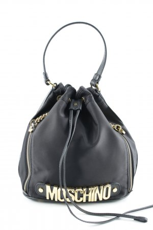 "Moschino Beuteltasche ""Logo Medium Nylon Bucket Bag Black"""