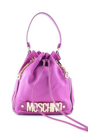 """Moschino Beuteltasche """"Logo Medium Nylon Bucket Bag Pink"""" violett"""