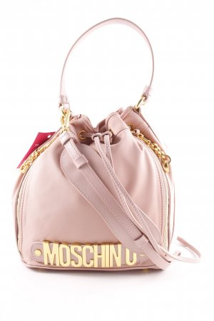 "Moschino Beuteltasche ""Logo Medium Nylon Bucket Bag Rose"" altrosa"