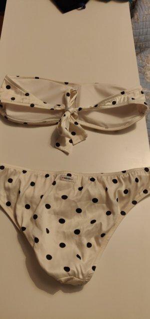 Moschino Bikini nero-crema