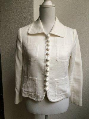 MOSCHINO Blazer Weiß mit Knopfreihe