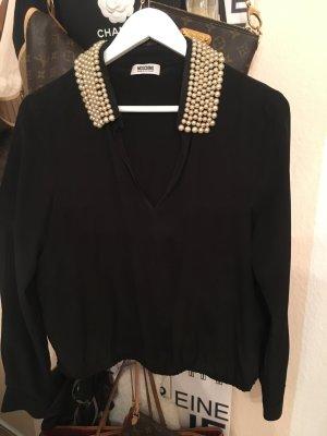 Moschino Bluse - schwarz Perlen - edel 399€ Gr 38-Frühjahr/REDUZIERT❗️