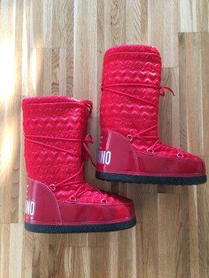 Love Moschino Stivale da neve nero-rosso