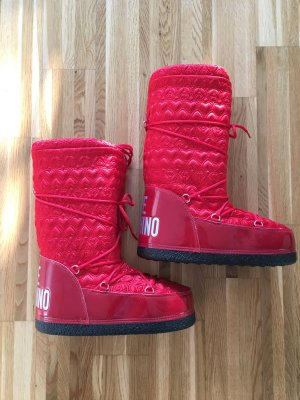 Love Moschino Snow Boots black-red