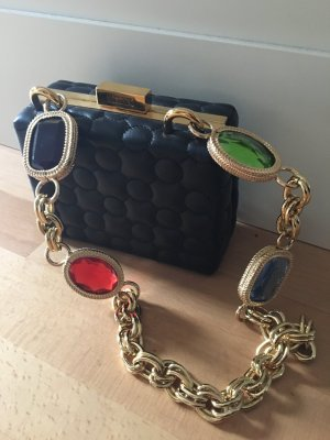 Moschino Boutique Tasche schwarz Leder Kette neu mit Rechnung und Staubbeutel