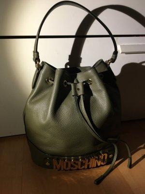 Moschino bucket bag Shopper Tasche khaki wie neu