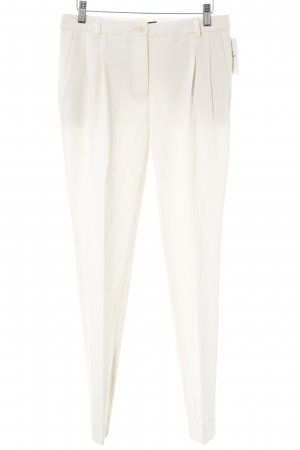 Moschino Bundfaltenhose creme Business-Look