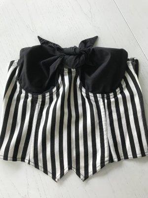 Moschino Jeans Haut type corsage noir-blanc