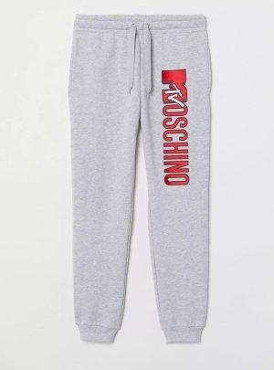 Moschino Pantalone fitness grigio-rosso