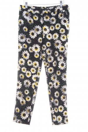 Moschino Cheap and Chic Bundfaltenhose schwarz-goldorange Blumenmuster Elegant