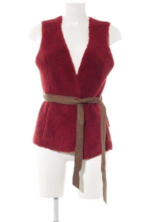 Moschino Cheap and Chic Smanicato di pelliccia rosso mattone stile casual