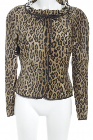 Moschino Cheap and Chic Kurz-Blazer Animalmuster Animal-Look