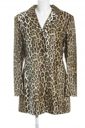 Moschino Cheap and Chic Long-Blazer Animalmuster Animal-Look