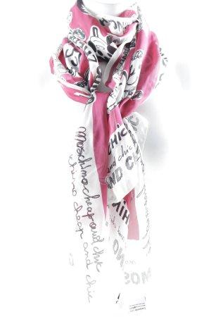 Moschino Cheap and Chic Sciarpa di seta motivo grafico stile casual